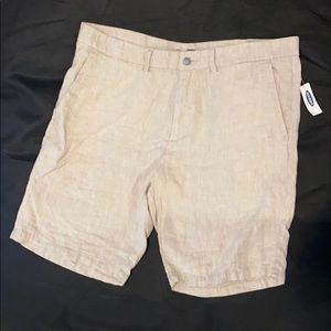 NWT men's old navy linen shorts, size 38